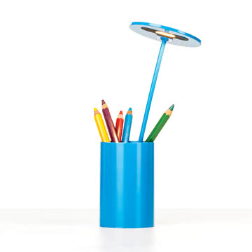 Formagenda - E.T. Tischleuchte, blau - mit Stiften