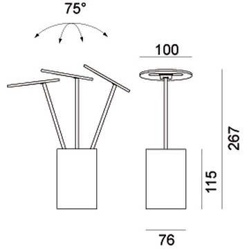 Formagenda - E.T. Tischleuchte - Maße