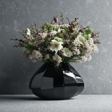 Georg Jensen - Facet Vase medium, schwarz