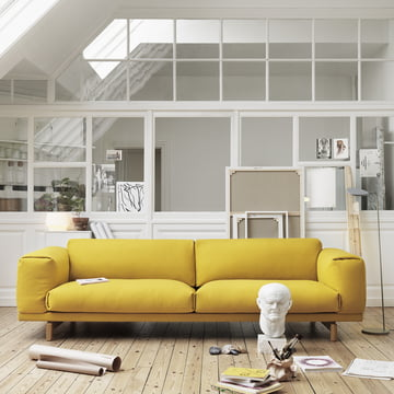 Rest Sofa 2-Sitzer von Muuto in Gelb