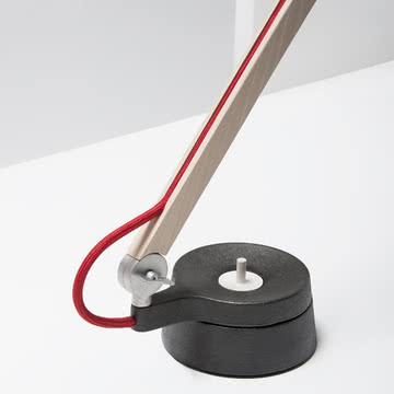 Wästberg - Studioilse Tischleuchte w084t1 Schalter, rotes Kabel