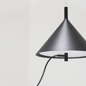 Wästberg - Nendo Pendelleuchte Cone w132s1, schwarz