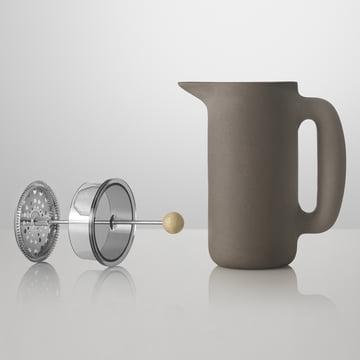 Muuto - Push Coffee Maker, steingrau, ohne Einsatz