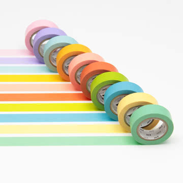 Masking tape - 10P light color (10er-Set)