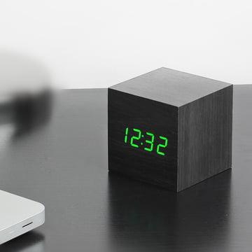 Gingko - Cube, schwarz / LED grün
