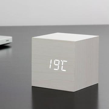 Gingko - Cube, weiß / LED weiß