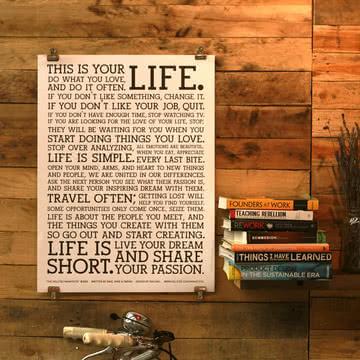 Poster White Manifesto von Holstee