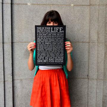 Holstee - Poster Black Manifesto
