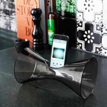 Holmegaard - Urania Handy-Audioverstärker, smoke