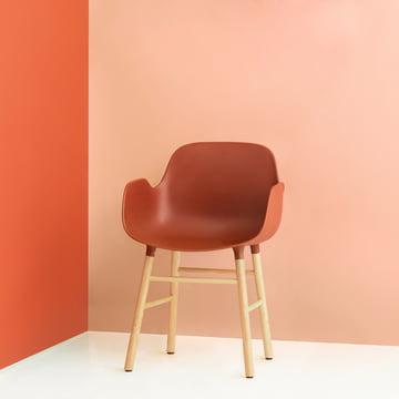 Form Armchair von Normann Copenhagen aus Eiche in Orange