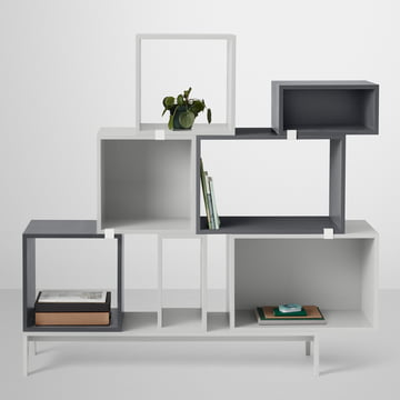 Muuto - Stacked Regalsystem, grau