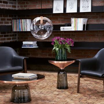 ClassiCon Vase, Beistelltisch und Pendelleuchte