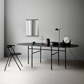 Menu - Snaregade Table, oval, schwarz funiert