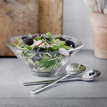 Grand Cru Glasschale mit Salatbesteck von Rosendahl