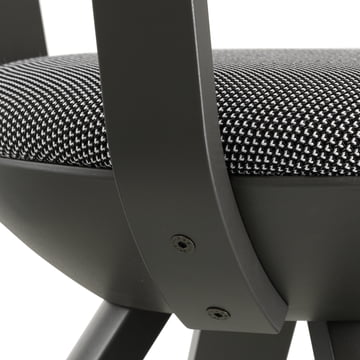 Artek - KG001 / KG002 Rival Stuhl schwarz, schwarz / weiß