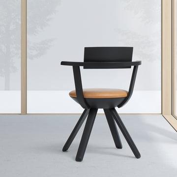 Artek - KG 002 Rival Stuhl hoch schwarz, asphalt
