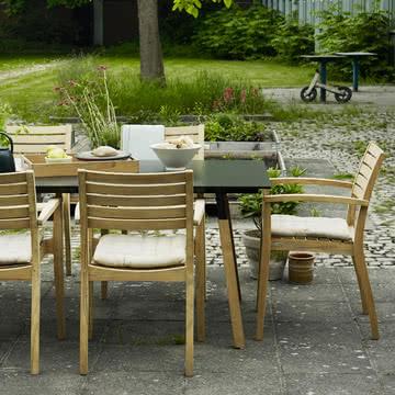 Skagerak - Way Outdoor Tisch, schwarz