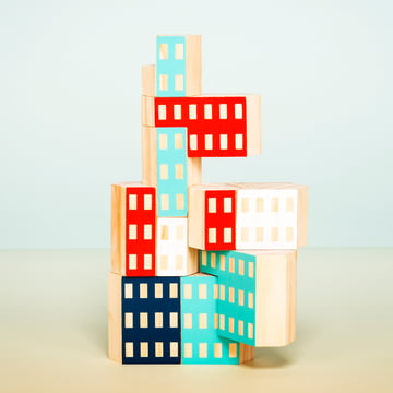 Areaware - Blockitecture, Spielzeug Holz-Architektur