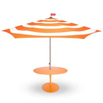 Stripesol Sonnenschirm mit Tisch von Fatboy in Orange
