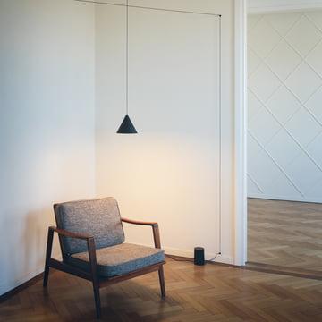 Flos - String Light Pendelleuchte, Kegelkopf