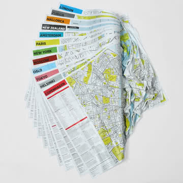 Crumpled City Map von Palomar