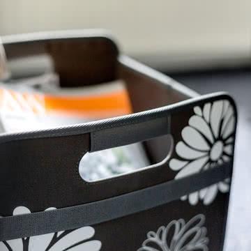meori - Klassiker Faltbox 30 Liter, Lava Schwarz Blumen