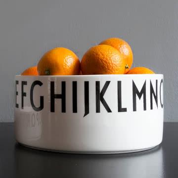 Design Letters - AJ Porzellan Deko-Schale groß, mit Orangen