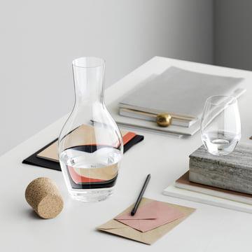 Holmegaard - Cabernet Wasserkaraffe mit Korken auf Tisch