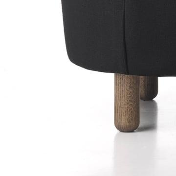 Edles Holz und feiner Bezug