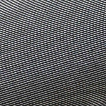 Fabmuster Auflage zur Solara Sonnenliege in Grau-Schwarz gestreift
