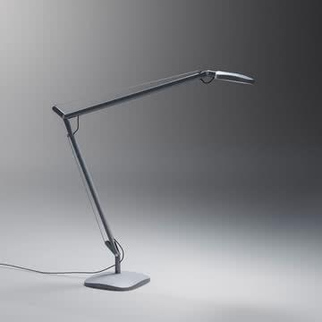 FontanaArte - Volée Tischleuchte mit Tischfuß in dunkelgrau