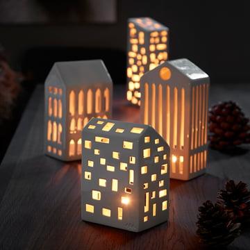 Teelichthäuser für Weihnachten