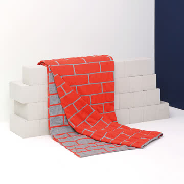 Pulpo - Brick Blanket, spicy rot / hellgrau
