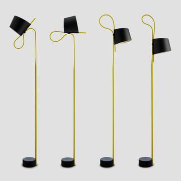 wrong.london - Rope Trick Bodenleuchte, schwarz / gelb