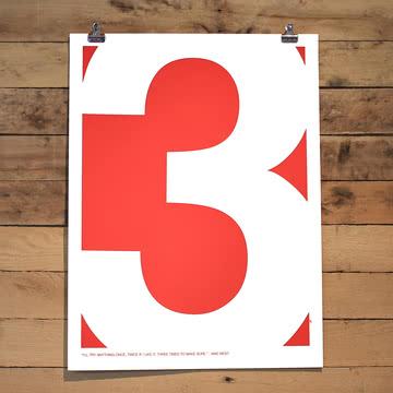 Srcreen Printed Swiss Inspired Number Series Three von Holstee