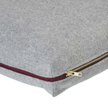 Wool Cushion 60 x 40 cm von ferm Living in Hellgrau