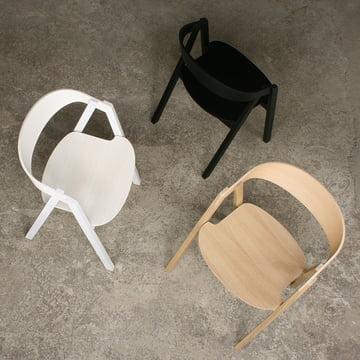 Maigrau - NARDO Stuhl, Eiche natur / Esche schwarz / Esche weiß