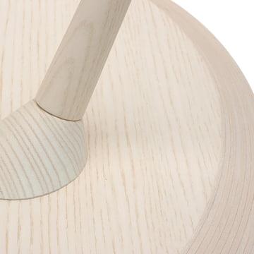 TURN Tisch von Maigrau in Esche weiß lackiert