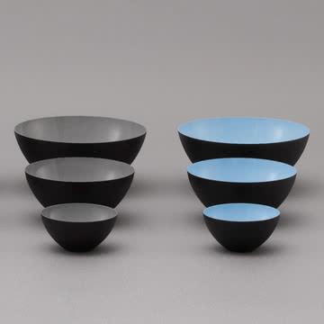 Normann Copenhagen - Krenit Schale, grau, hellblau