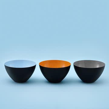 Normann Copenhagen - Krenit Schale, hellblau, orange, grau