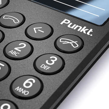 Punkt. - Mobiltelefon MP01, schwarz