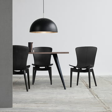 Shell Dining Chair und Shade Pendelleuchte von Mater