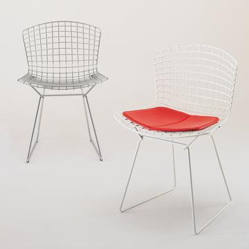 Bertoia Stahldraht-Stuhl mit Sitzkissen