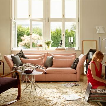Vitra Sofa im zarten Rosa