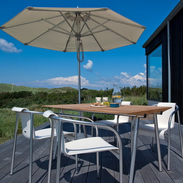 Ocean Tisch aus Teakholz für die Terrasse