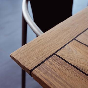 Garten-Holztisch mit Gummifuge