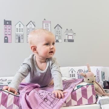 Baby-Spucktücher in verschiedenen Rosatönen