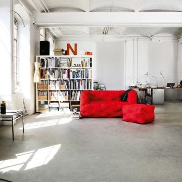 Couch I 2-Sitzer mit Hocker von Sitting Bull