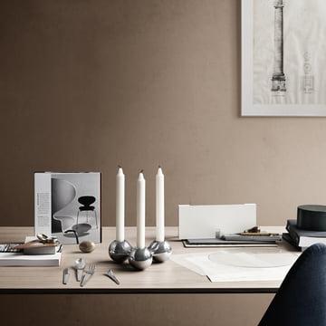 3er kerzenhalter von georg jensen im shop. Black Bedroom Furniture Sets. Home Design Ideas