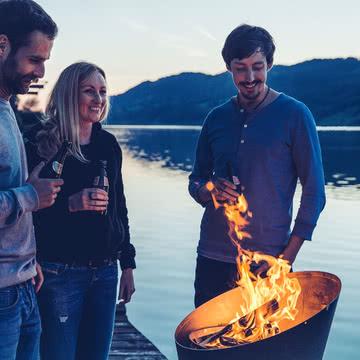 Feuerstelle nach dem Grillen